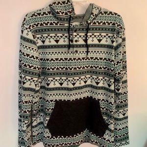 On the byas sweatshirt